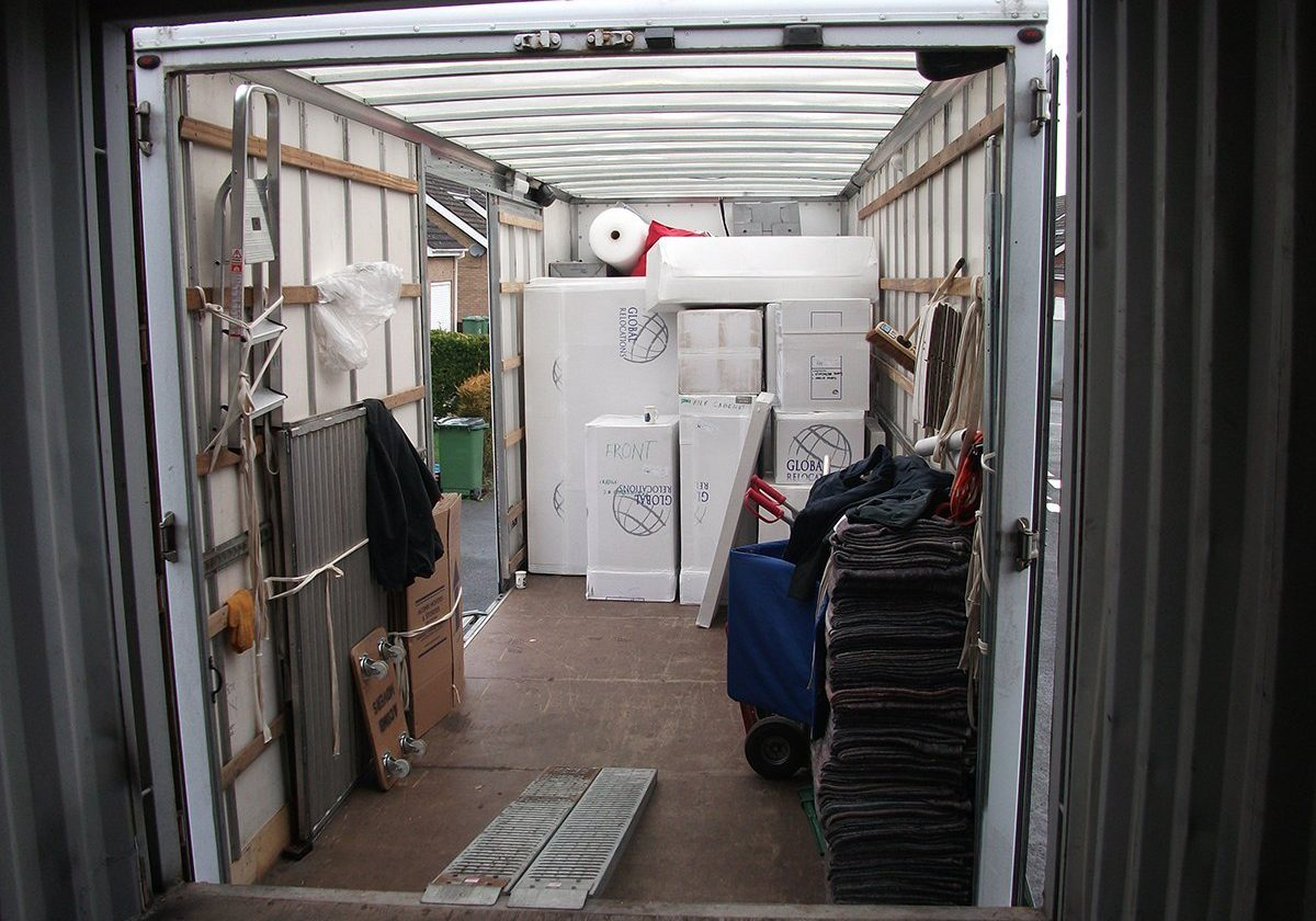 inside of acomb storage van