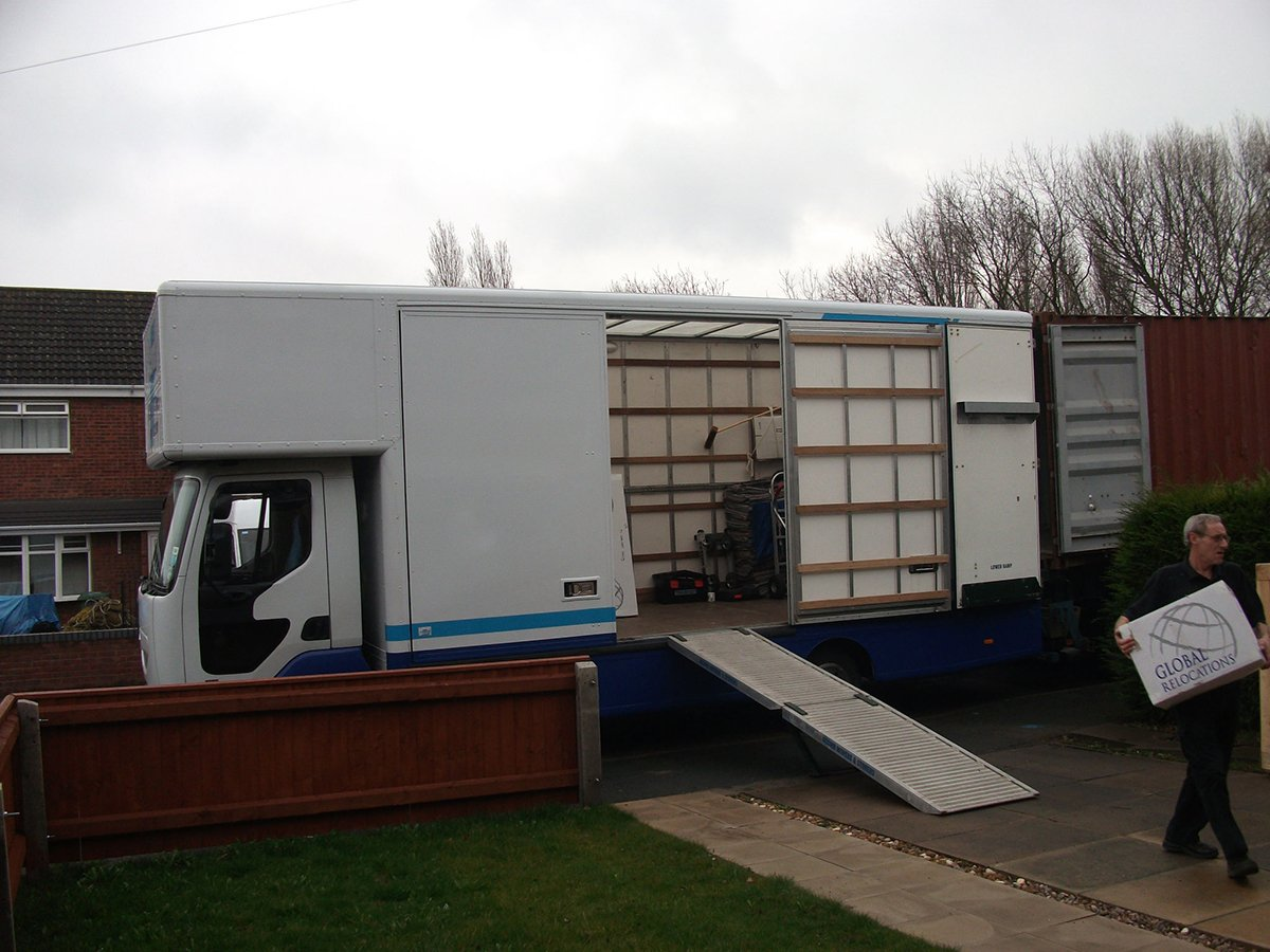 acomb storage van being used